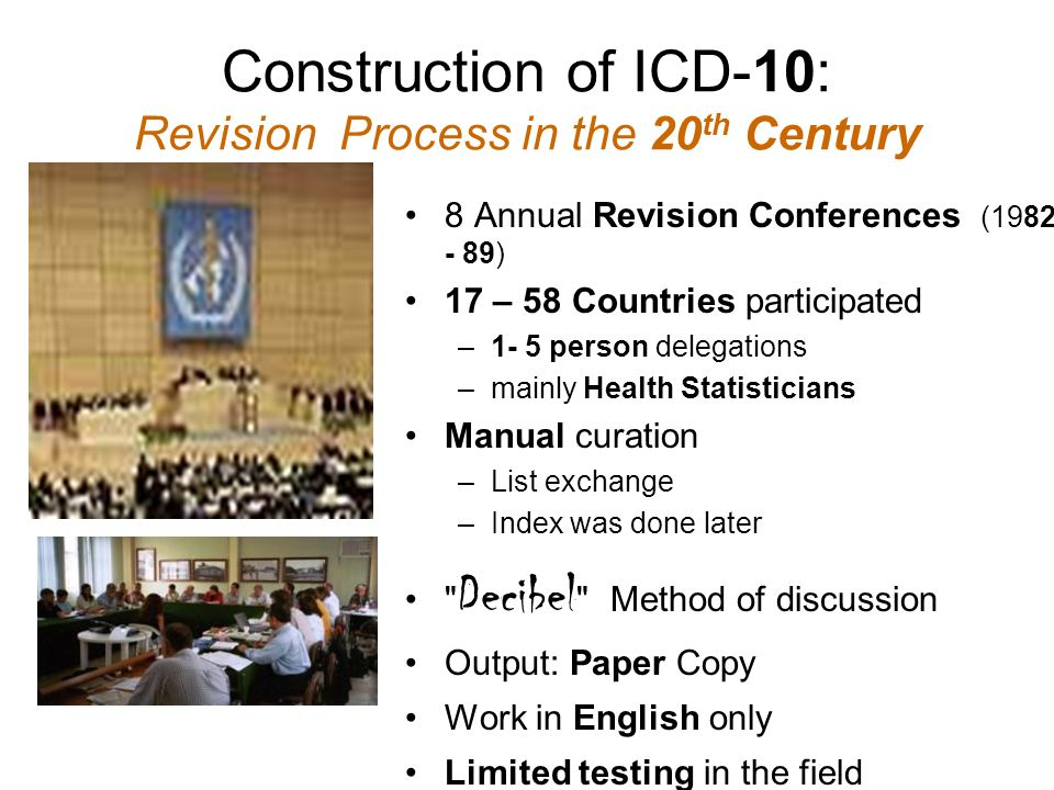 Construction of ICD-10: Revision Process in the 20th Century