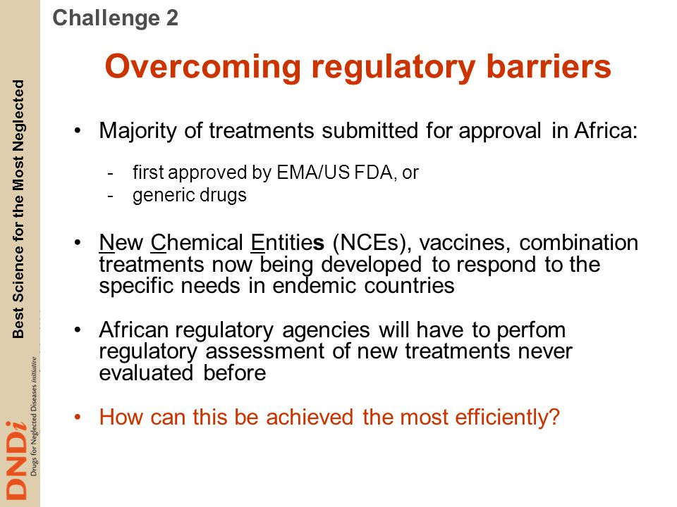Overcoming regulatory barriers