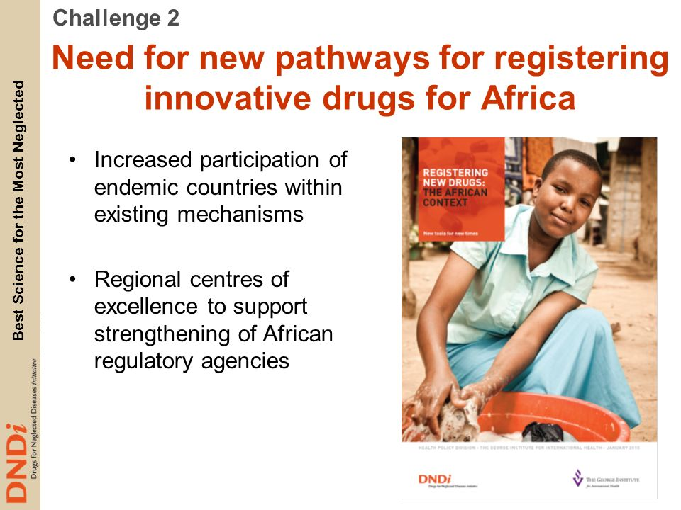 Need for new pathways for registering innovative drugs for Africa