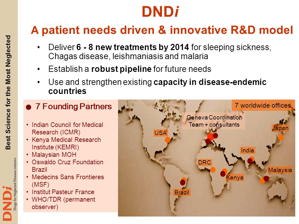 DNDi A patient needs driven & innovative R&D model