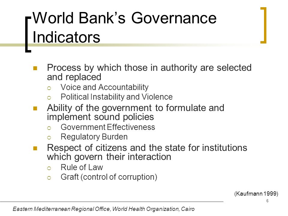 World Bank's Governance Indicators