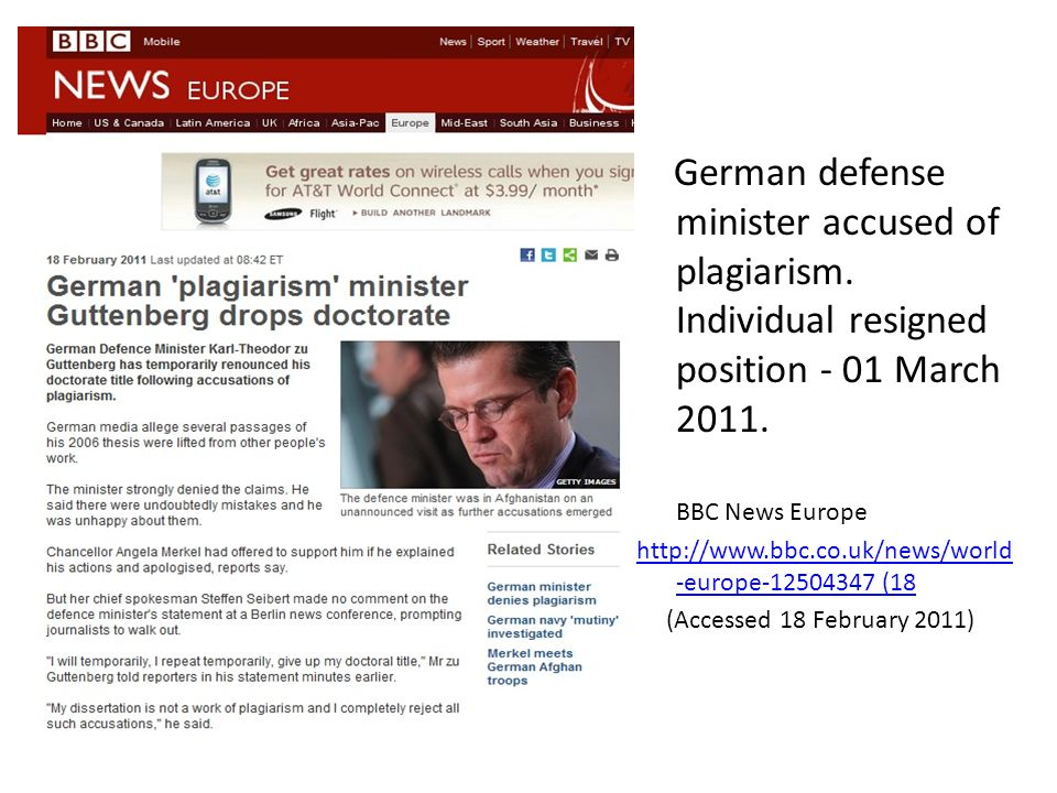 German defense minister accused of plagiarism