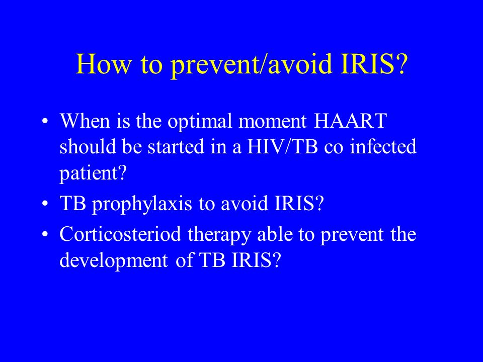 How to prevent/avoid IRIS