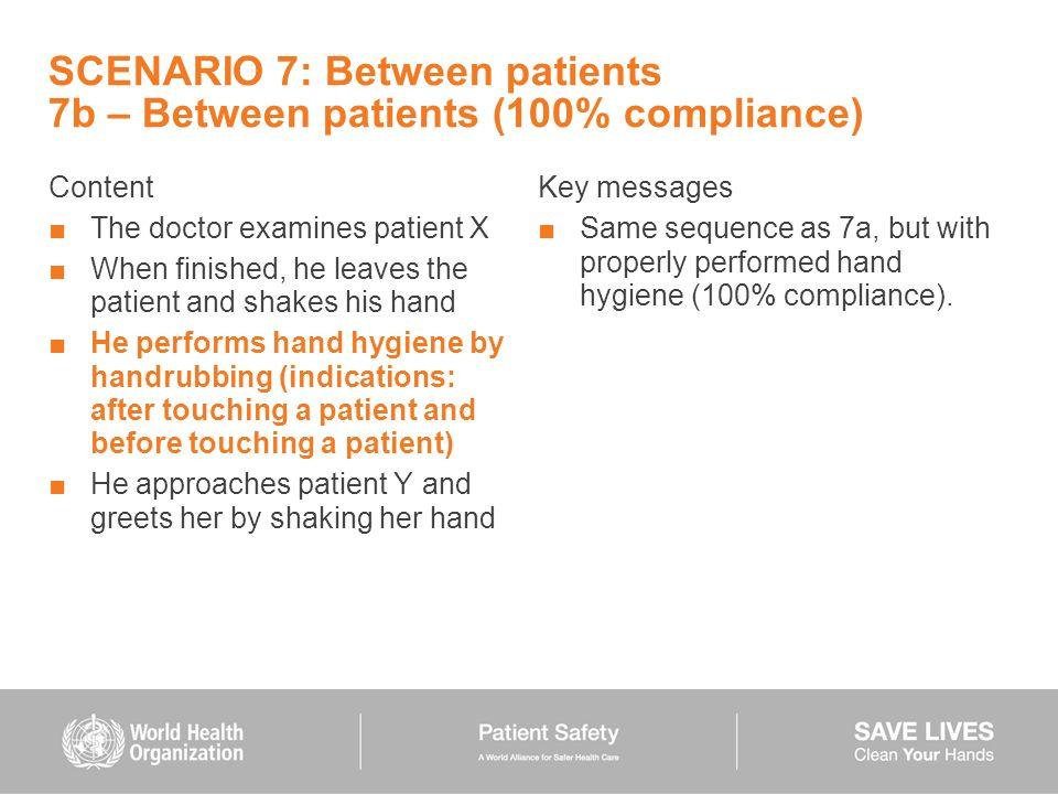 SCENARIO 7: Between patients 7b – Between patients (100% compliance)