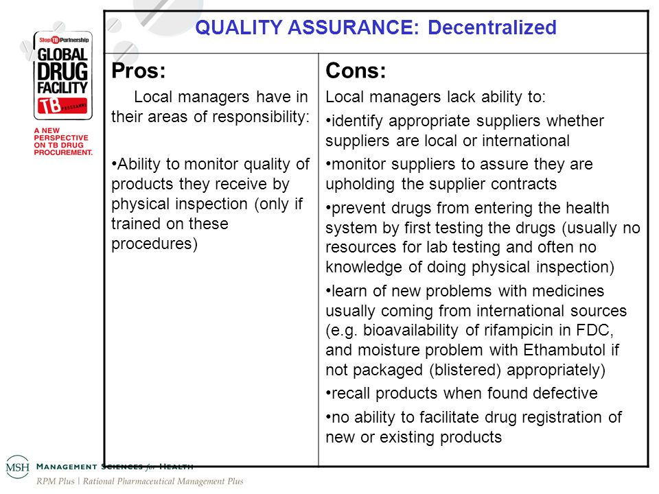 QUALITY ASSURANCE: Decentralized