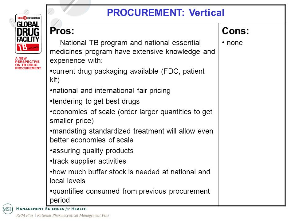 PROCUREMENT: Vertical