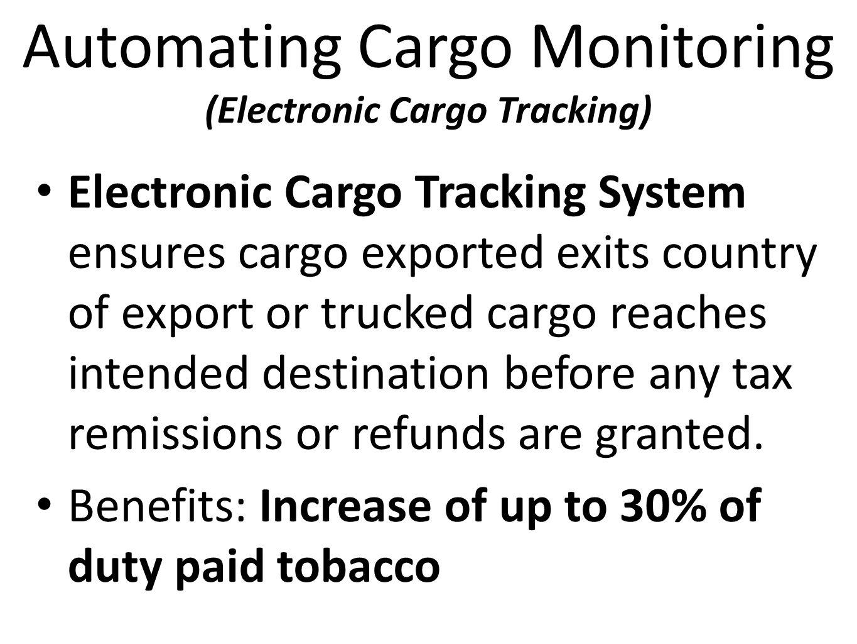 Automating Cargo Monitoring (Electronic Cargo Tracking)