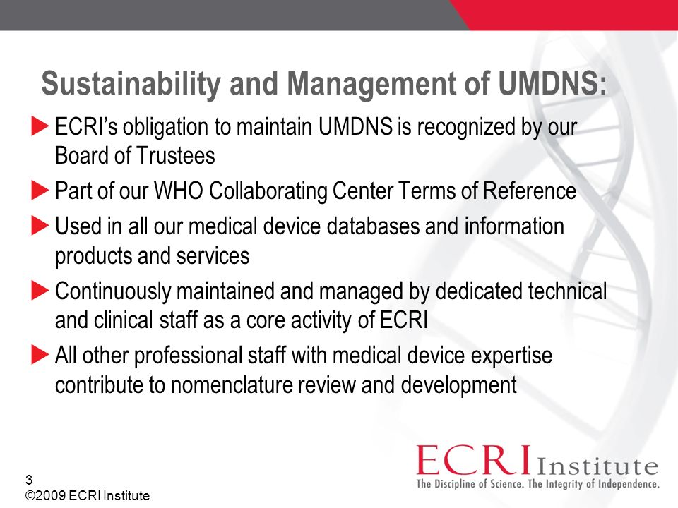 Sustainability and Management of UMDNS: