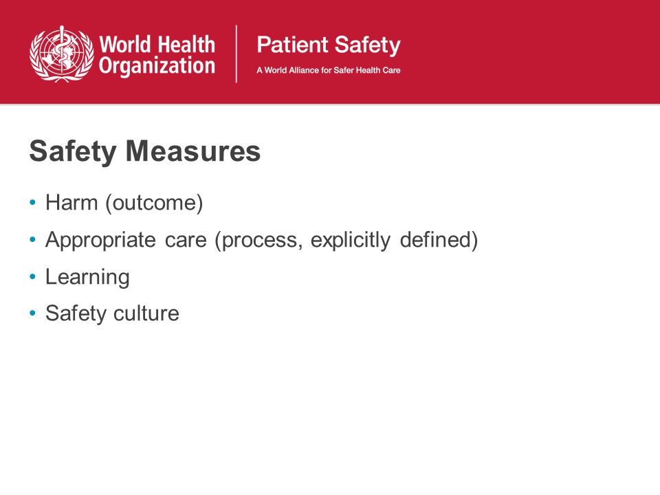 Safety Measures Harm (outcome)