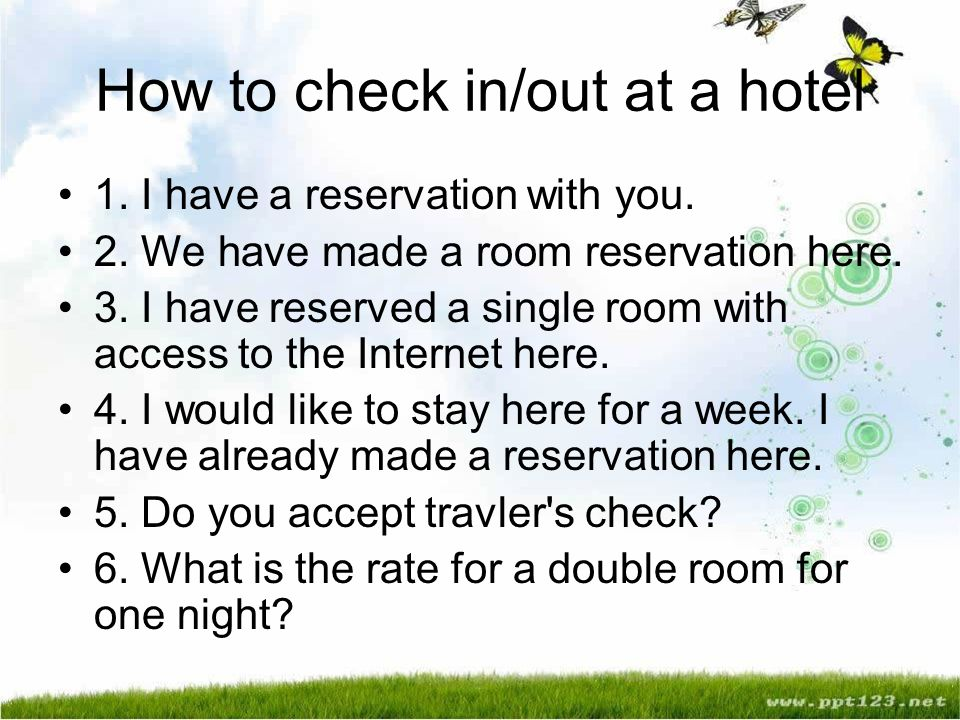 How To Check In Out At A Hotel