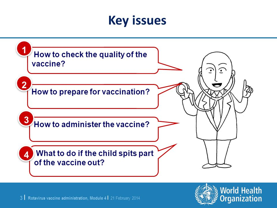 Key issues How to check the quality of the vaccine