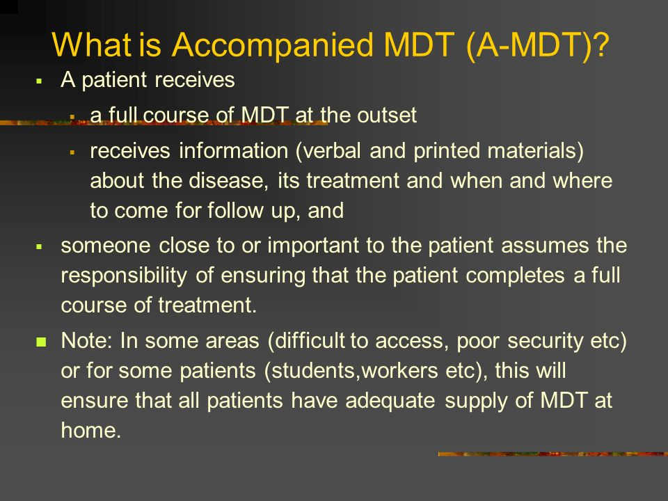 What is Accompanied MDT (A-MDT)