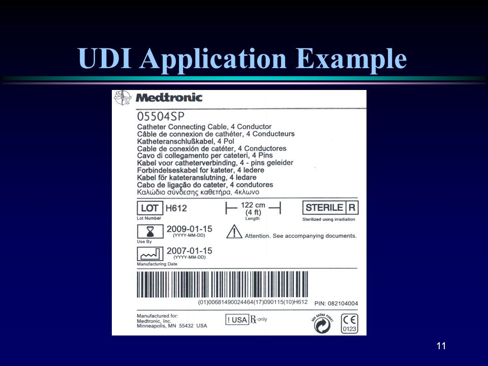 UDI Application Example