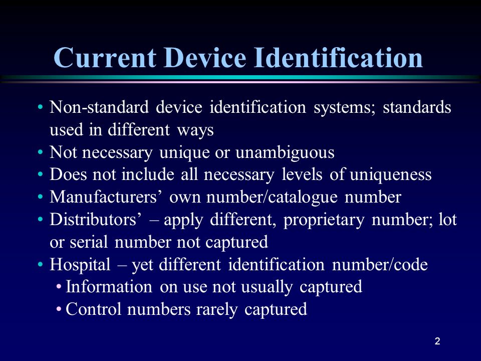 Current Device Identification