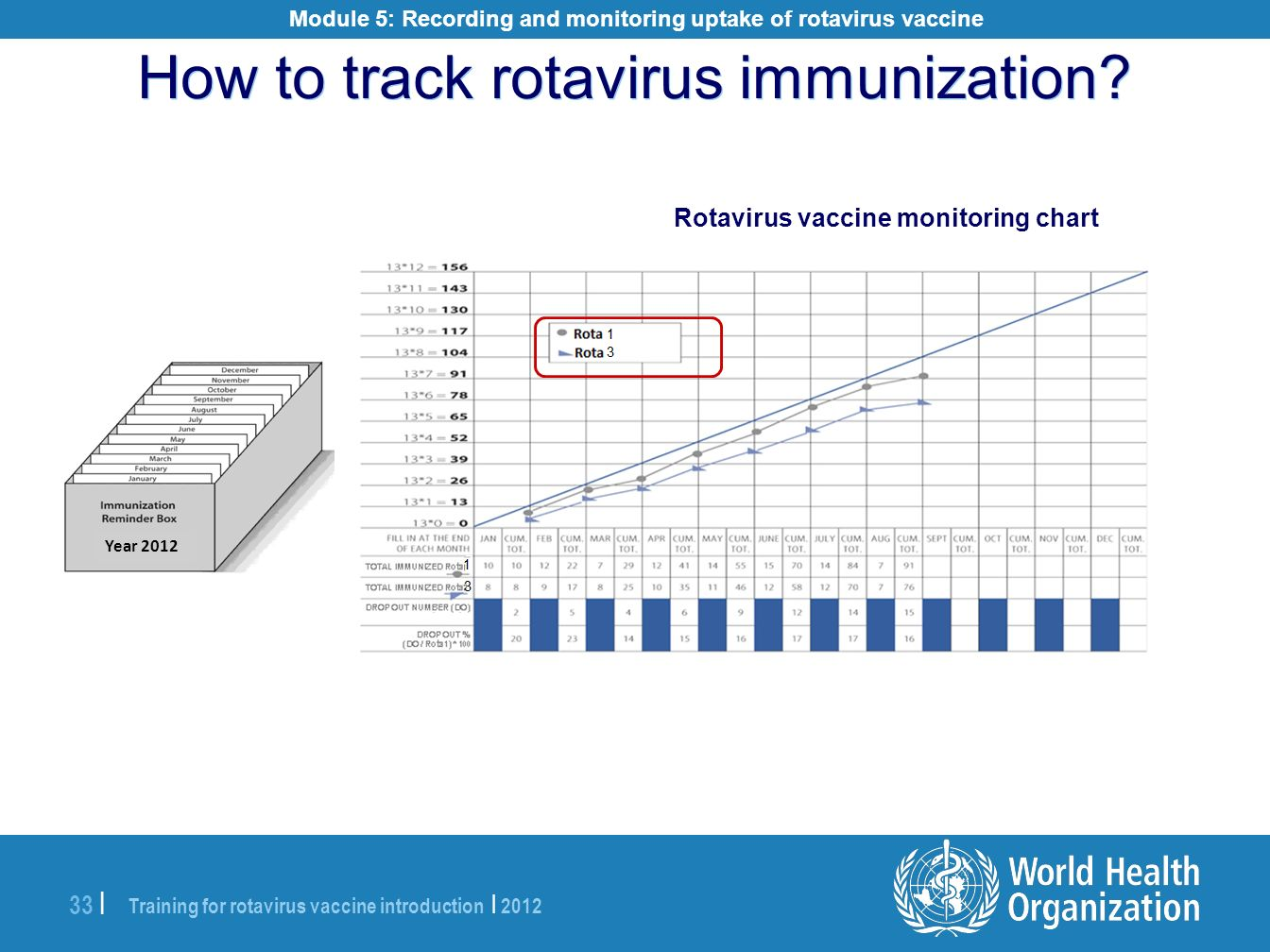 How to track rotavirus immunization