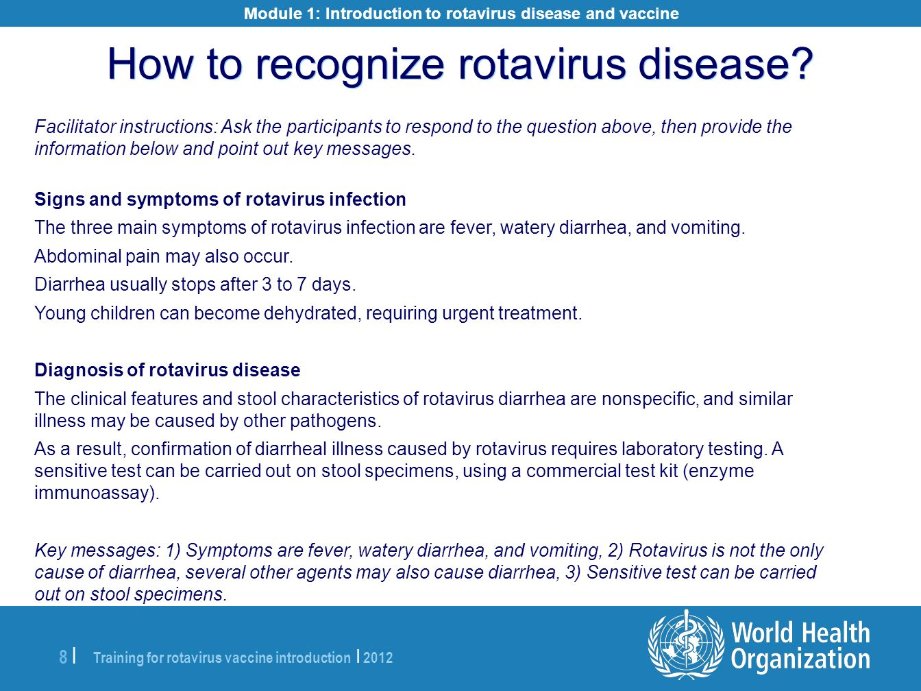 Module 1: Introduction to rotavirus disease and vaccine
