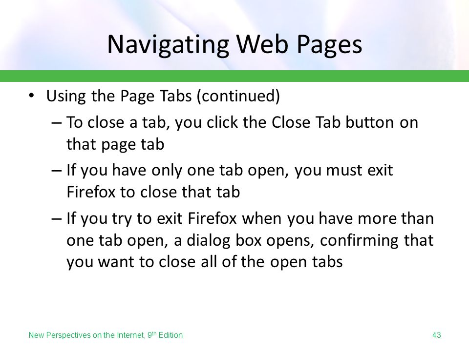 how to close one tab