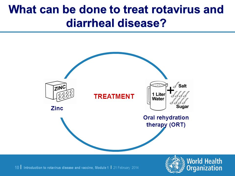 What can be done to treat rotavirus and diarrheal disease
