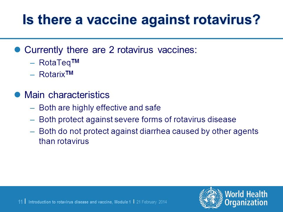 Is there a vaccine against rotavirus
