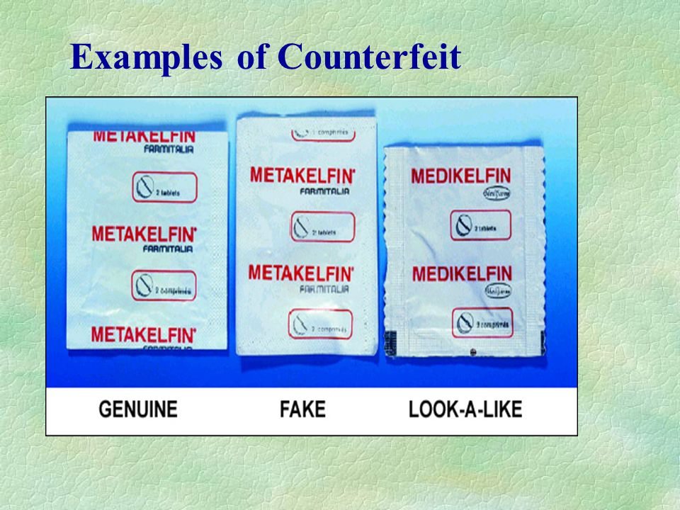 Examples of Counterfeit