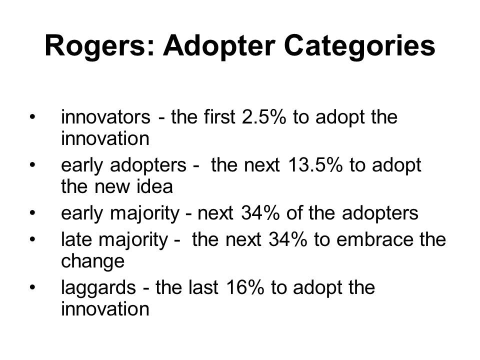Rogers: Adopter Categories