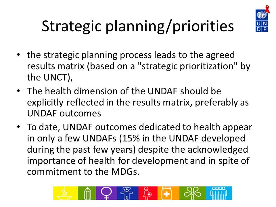 Strategic planning/priorities