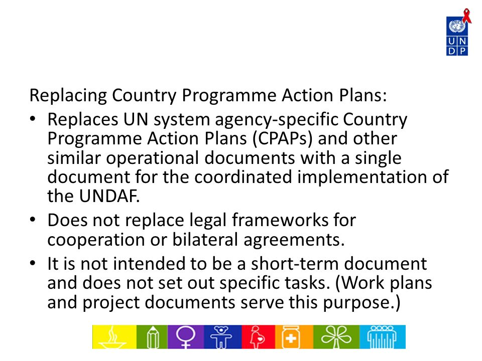 Replacing Country Programme Action Plans: