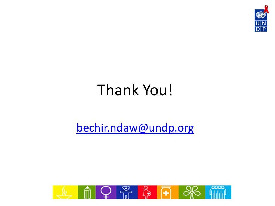 Thank You! bechir.ndaw@undp.org
