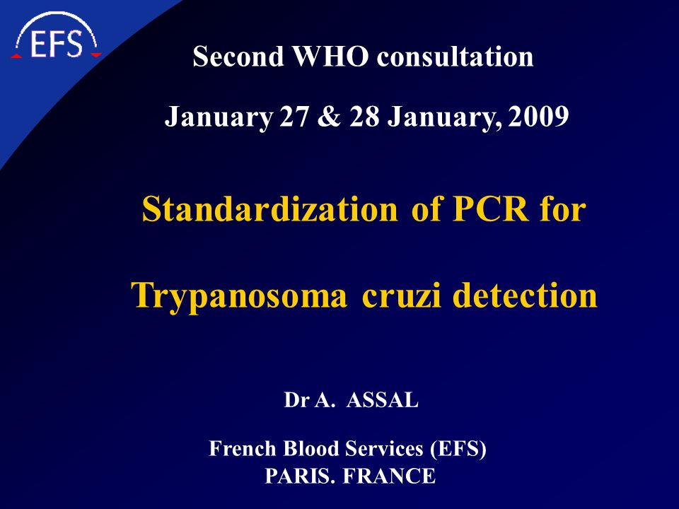 Standardization of PCR for Trypanosoma cruzi detection