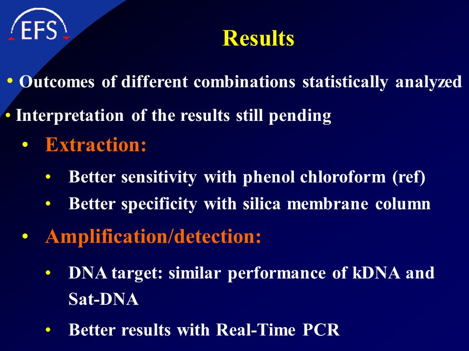 Outcomes of different combinations statistically analyzed