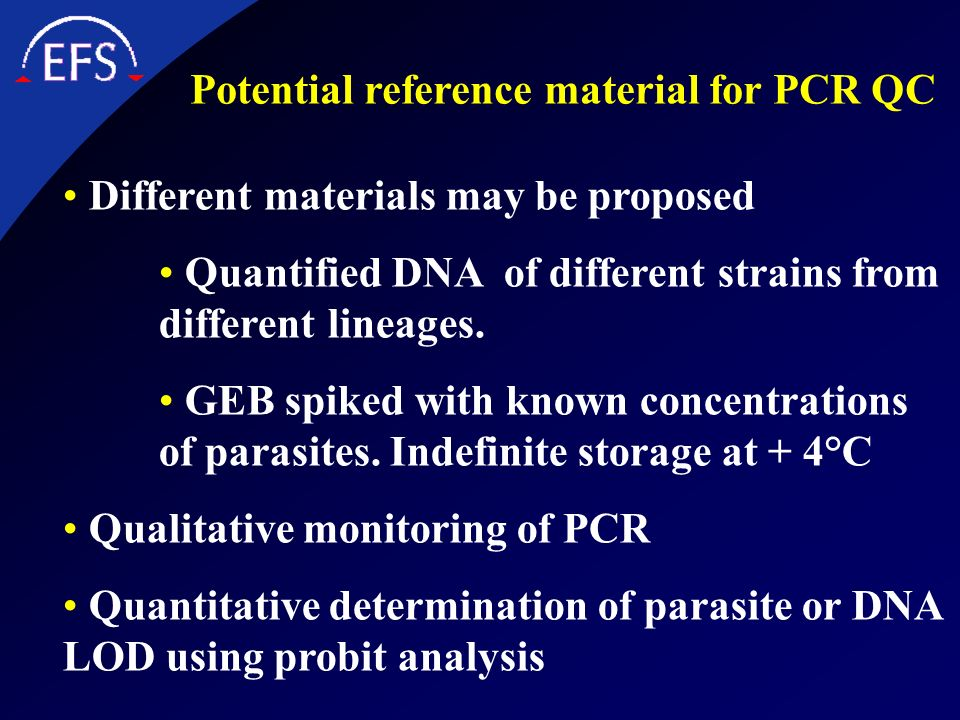 Potential reference material for PCR QC