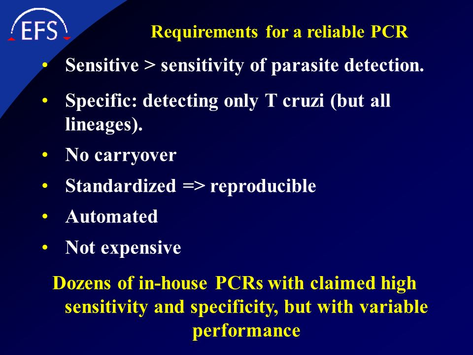 Requirements for a reliable PCR