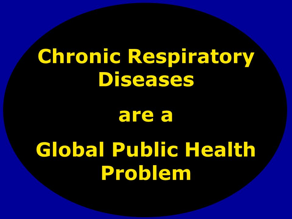 Chronic Respiratory Diseases Global Public Health Problem