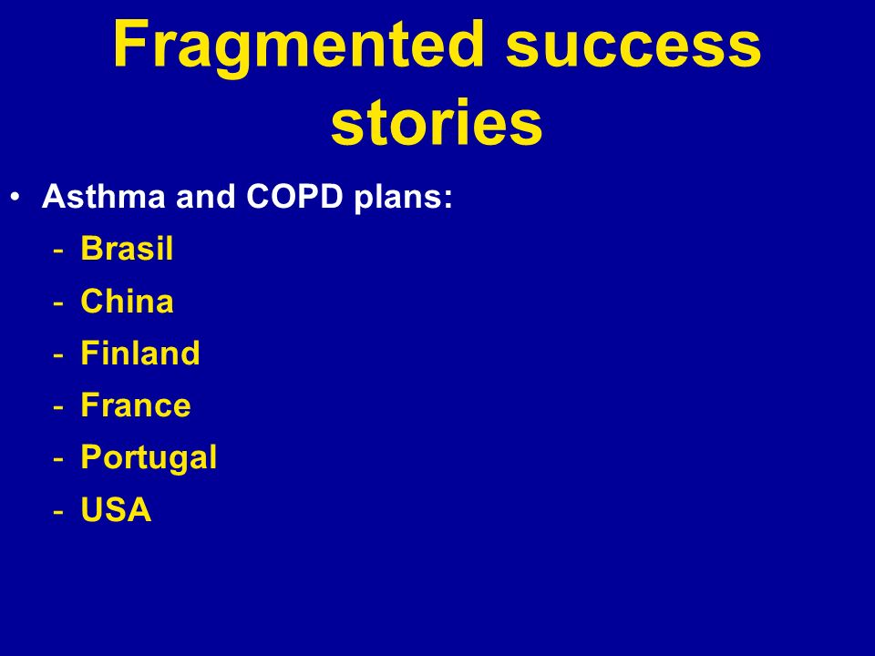 Fragmented success stories