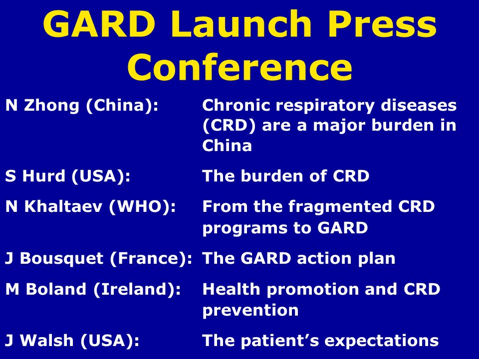 GARD Launch Press Conference