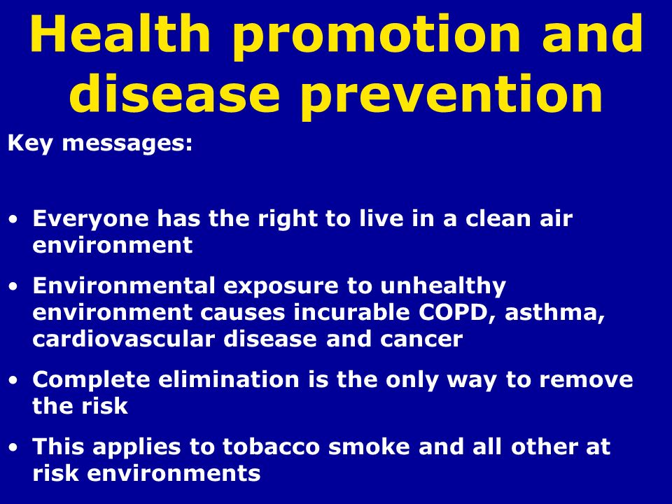health promotion on copd Free essay: essay title: health promotion :chronic obstructive pulmonary disease word count:1,905 the nursing and midwifery council (nmc 2008)states that a.