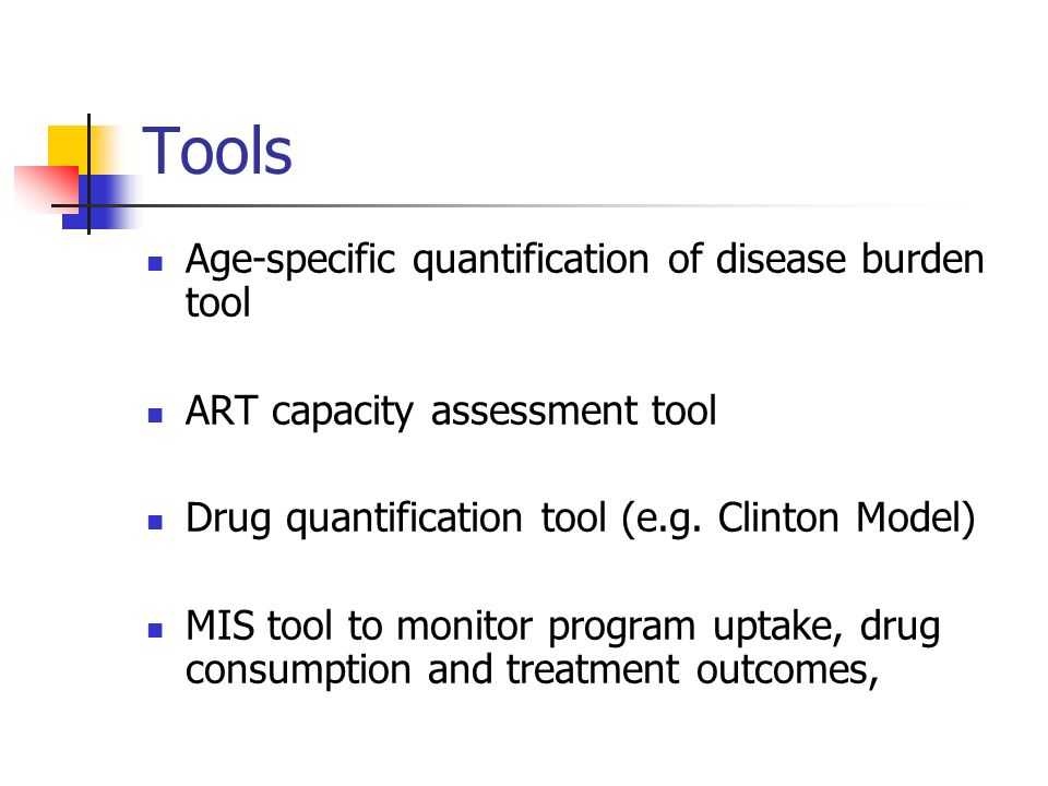 Tools Age-specific quantification of disease burden tool
