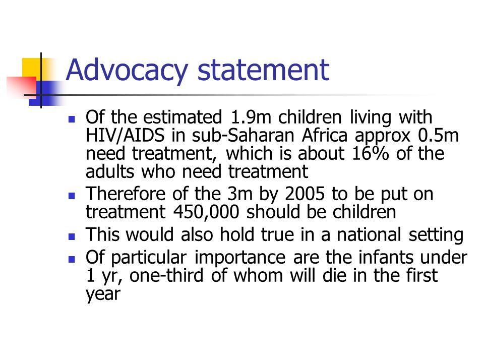 Advocacy statement