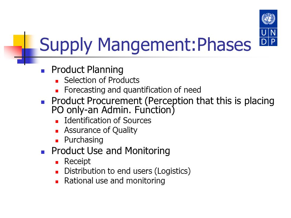 Supply Mangement:Phases