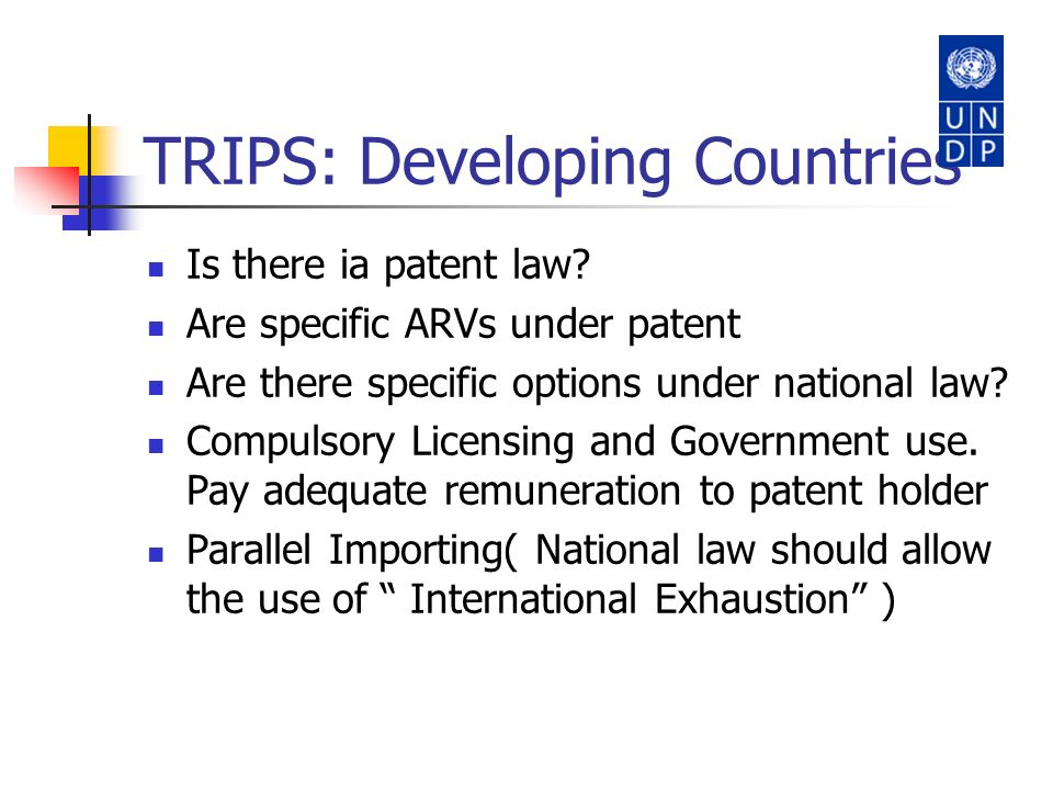 TRIPS: Developing Countries