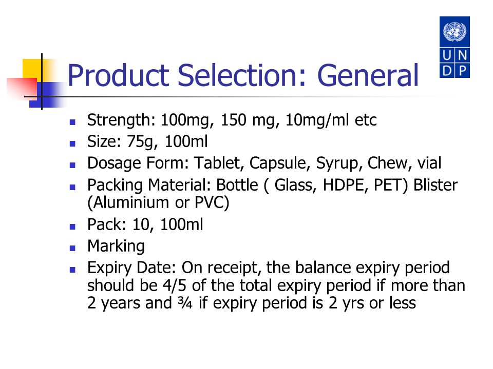 Product Selection: General