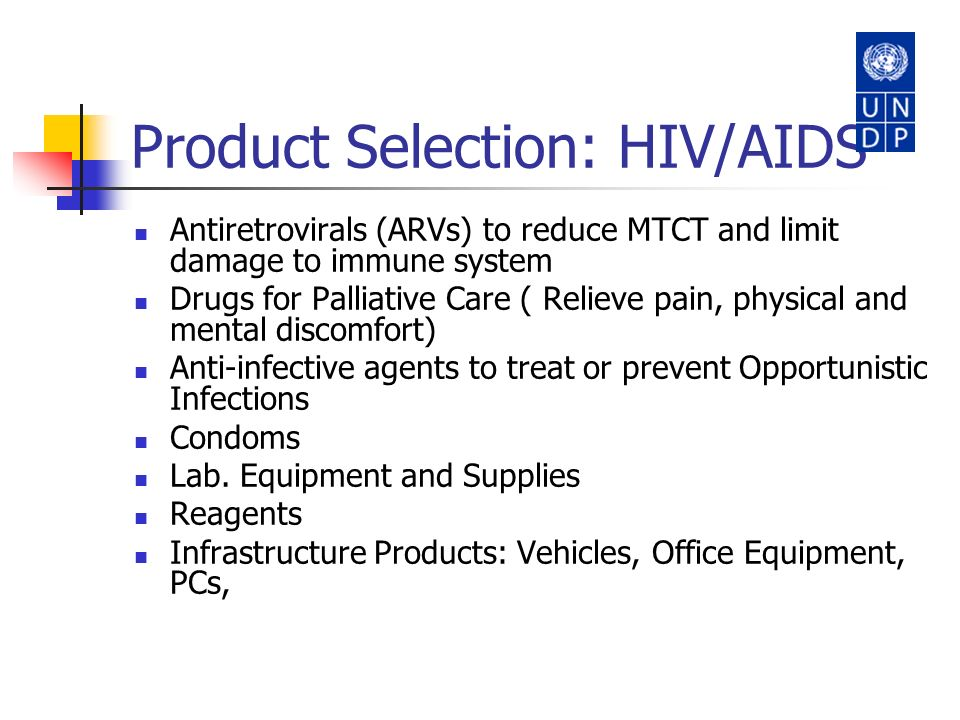 Product Selection: HIV/AIDS