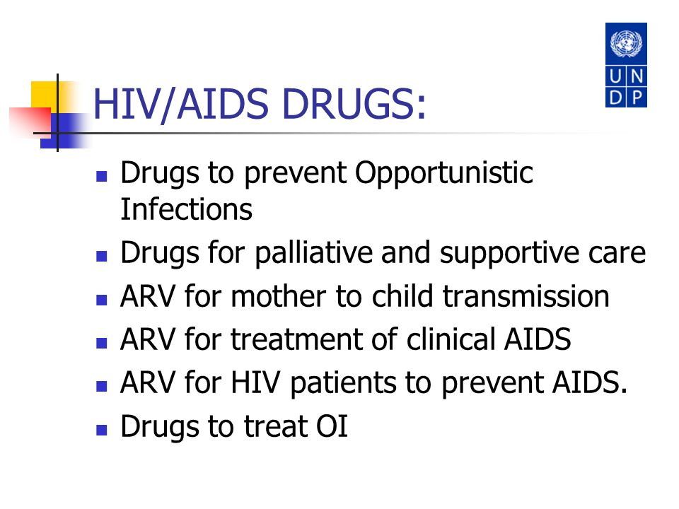 HIV/AIDS DRUGS: Drugs to prevent Opportunistic Infections