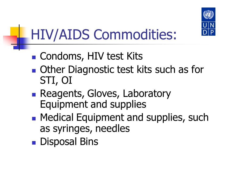 HIV/AIDS Commodities: