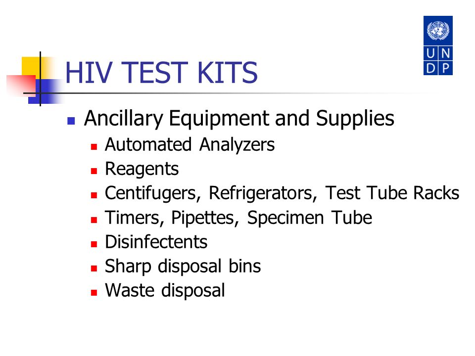 HIV TEST KITS Ancillary Equipment and Supplies Automated Analyzers
