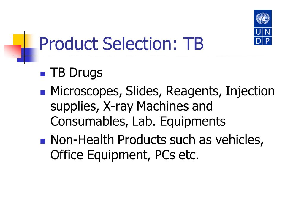 Product Selection: TB TB Drugs