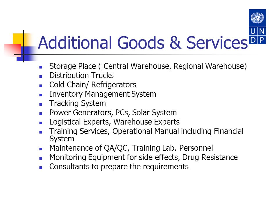 Additional Goods & Services