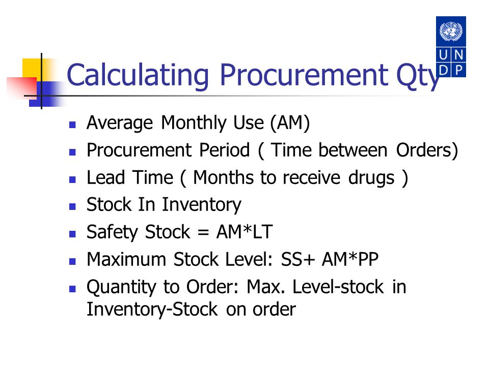 Calculating Procurement Qty