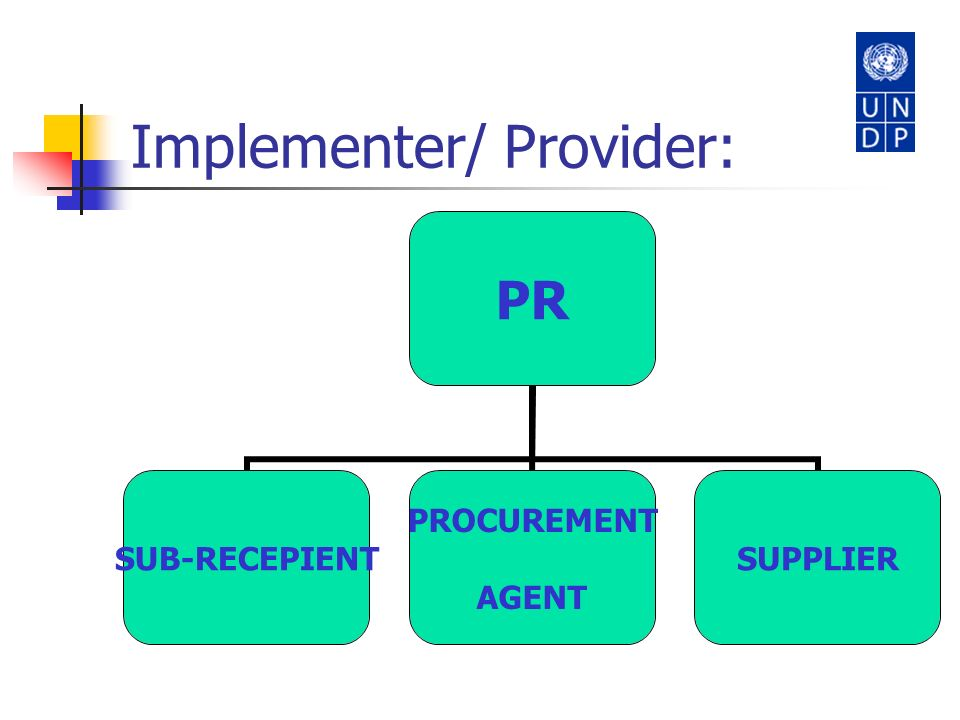 Implementer/ Provider: