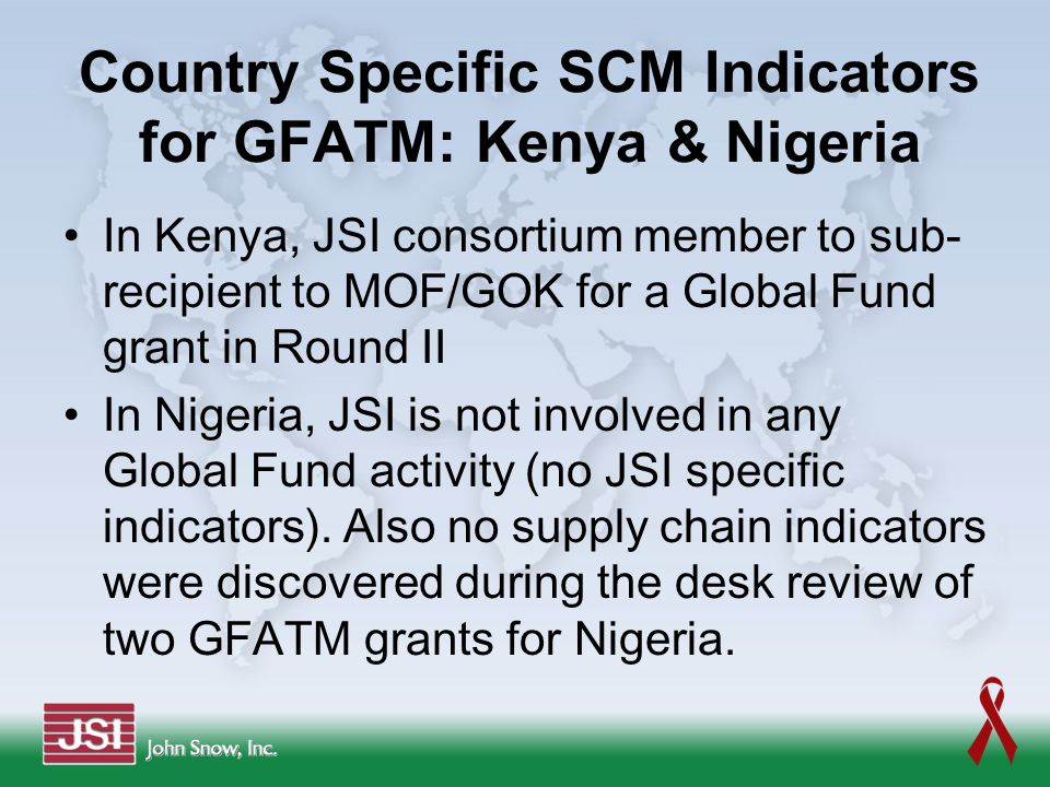 Country Specific SCM Indicators for GFATM: Kenya & Nigeria
